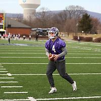 SALEM, VA - DECEMBER 14: during Stagg Bowl practice at Salem Stadium on December 14, 2017 in Salem,VA. (Photo by Steve Frommell, d3photography.com)