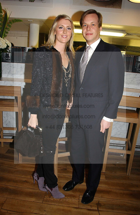 JAMIE ALLSOPP and LADY EMILY COMPTON at the opening party for Tom's Kitchen - the restaurant of Tom Aikens at 27 Cale Street, London SW3 on 1st November 2006.<br /><br />NON EXCLUSIVE - WORLD RIGHTS