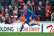 Aaron Doran (#10) of Inverness Caledonian Thistle FC runs away to celebrate after scoring the winning goal during the William Hill Scottish Cup quarter final match between Dundee United and Inverness CT at Tannadice Park, Dundee, Scotland on 3 March 2019.