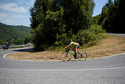 Ane Santesteban makes a solo move on the uncategorised climb on Stage 8 of the Giro Rosa - a 141.8 km road race, between Baronissi and Centola fraz. Palinuro on July 7, 2017, in Salerno, Italy. (Photo by Sean Robinson/Velofocus.com)