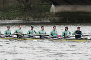 Hammersmith, GREATER LONDON. United Kingdom Cambridge University  Boat  Club, Pre Boat Race Fixture CUBC vs ITA M8+ for the 2017 Boat Race The Championship Course, Putney to Mortlake on the River Thames.<br /> <br /> Saturday  18/03/2017<br /> <br /> [Mandatory Credit; Peter SPURRIER/Intersport Images]<br /> CUBC<br /> <br /> [R-L] S. Henry Meek, 7. Lance Tredell,6. Patrick Eble,5. Aleksander Malowany, 4. Timothy Tracey, 3. James Letten, 2. Freddie Davidson,