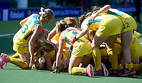 DEN HAAG - Rabobank World Cup Hockey 2014 .  Semi final Australia vs USA 2-2 , Vreugde bij Australie. Austr. wins after shoot outs . COPYRIGHT KOEN SUYK