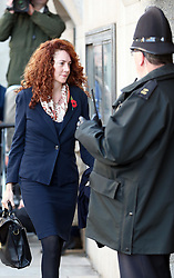 Rebekah Brooks arriving for the start of the second week of the phone hacking trial at the Old Bailey in London, 4th November 2013. Picture by Stephen Lock / i-Images