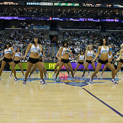08 April 2009: New Orleans Hornets Honeybees NBA dance team performs during a 105-100 loss by the New Orleans Hornets to the Phoenix Suns at the New Orleans Arena in New Orleans, Louisiana.