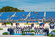 Prijsuitreiking Nations Cup 1. Germany, 2. USA, 3. Great Britain GBR<br /> FEI World Equestrian Games Tryon 2018<br /> © DigiShots