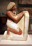 Statue of Roy. New Kingdom, reign of Amenhotep 11 (ca 1420 B.C.) Limestone paint.