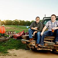 Matt Sullivan and Ben Garry, founders of Old Planters Brewing Co.