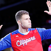 23 November 2013: Los Angeles Clippers power forward Blake Griffin (32) is seen during the players introduction prior the Los Angeles Clippers 103-102 victory over the Sacramento Kings at the Staples Center, Los Angeles, California, USA.