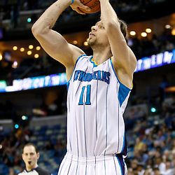 December 17, 2010; New Orleans, LA, USA; New Orleans Hornets center David Andersen (11) against the Utah Jazz during the second half at the New Orleans Arena.  The Hornets defeated the Jazz 100-71. Mandatory Credit: Derick E. Hingle