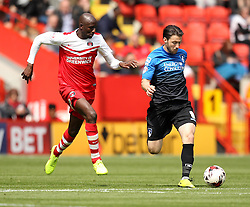 Bournemouth's Harry Arter is chased down by Charlton Athletic's Alou Diarra - Photo mandatory by-line: Robbie Stephenson/JMP - Mobile: 07966 386802 - 02/05/2015 - SPORT - Football - Charlton - The Valley - Charlton v AFC Bournemouth - Sky Bet Championsip