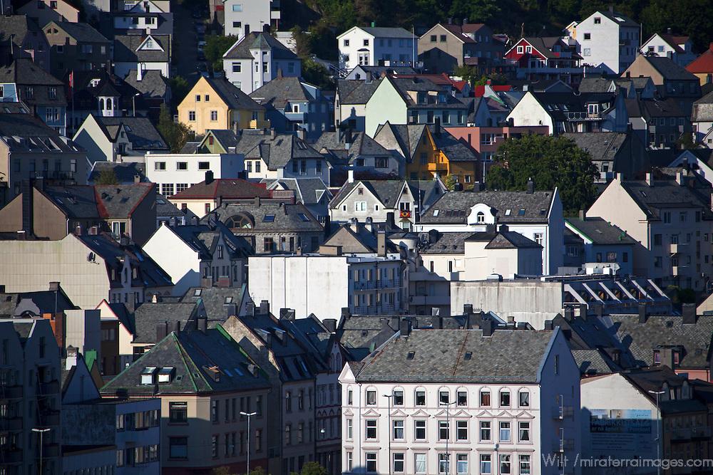 Europe, Norway, Alesund. Town of Alesund.