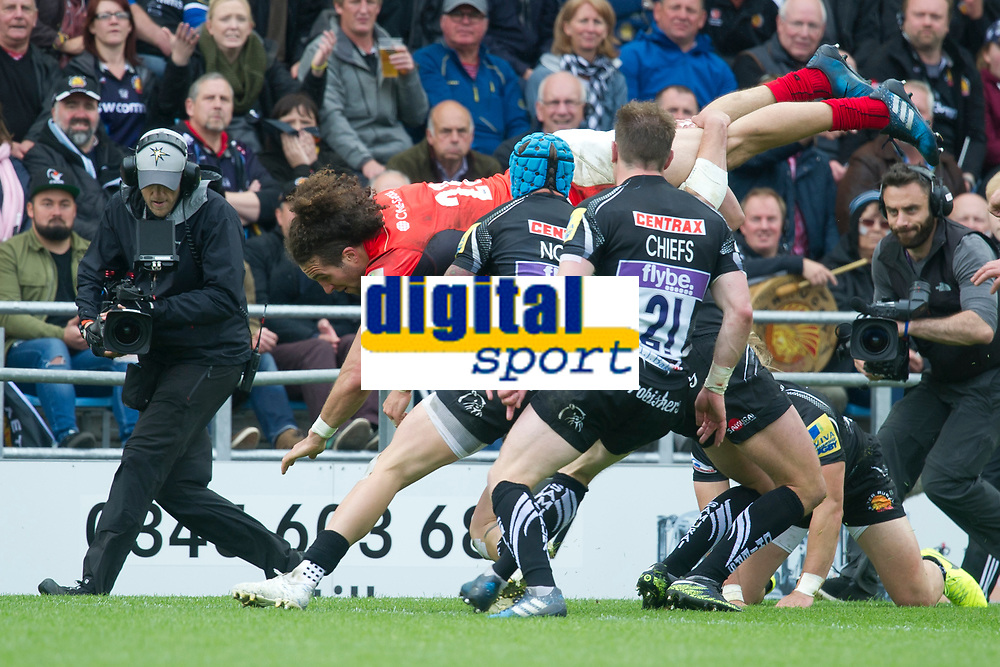 Rugby Union - 2016 / 2017 Aviva Premiership - Semi-Final: Exeter Chiefs vs. Saracens<br /> <br /> , at Sandy Park.<br /> <br /> COLORSPORT/WINSTON BYNORTH