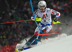 "29.01.2019, Planai, Schladming, AUT, FIS Weltcup Ski Alpin, Slalom, Herren, 1. Lauf, im Bild Victor Muffat-Jeandet (FRA) // Victor Muffat-Jeandet of France in action during his 1st run of men's Slalom ""the Nightrace"" of FIS ski alpine world cup at the Planai in Schladming, Austria on 2019/01/29. EXPA Pictures © 2019, PhotoCredit: EXPA/ Erich Spiess"