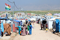 61312223<br /> UN supervised Refugee Camp for Syrian Civil war refugees in Northern Iraq, Thursday, 27th March 2014. Picture by  imago / i-Images<br /> <br /> UK ONLY