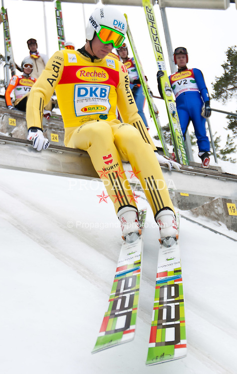 10.12.2011, Ramsau am Dachstein, AUT, FIS Nordische Kombination, Ski Sprung, im Bild Tino Edelmann (GER) // Tino Edelmann of Germany during Ski jumping at FIS Nordic Combined World Cup in Ramsau, Austria on 2011/12/10. EXPA Pictures © 2011, PhotoCredit: EXPA/ Johann Groder