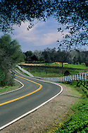 Country road through the Shenandoah Valley near Plymouth, Amador County, California