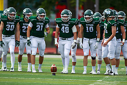 BLOOMINGTON, IL - September 28:  Titan Kickoff squad during a college football game between the IWU Titans and the Augustana Vikings on September 28 2019 at Wilder Field in Tucci Stadium in Bloomington, IL. (Photo by Alan Look)