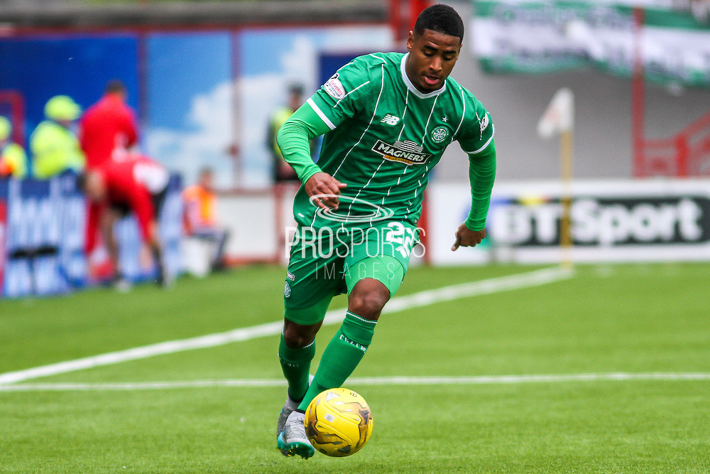 Celtic FC Defender Saidy Janko on the attack during the Ladbrokes Scottish Premiership match between Hamilton Academical FC and Celtic at New Douglas Park, Hamilton, Scotland on 4 October 2015. Photo by Craig McAllister.