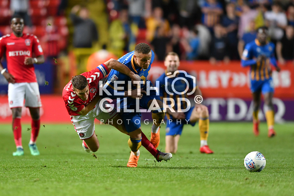 Charlton Athletic v Shrewsbury Town, SkyBet League 1 Play-Off Semi Final 1st Leg, The Valley, 10 May  2018. <br /> <br /> <br /> Image by Keith Gillard