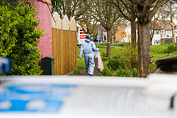 Police continue to investigate at the the house where the body of French film producer 34-year-old Laureline Garcia-Bertaux was found buried in a shallow grave at an address in Kew, London, after she was reported missing on Tuesday march 5th 2019. London, March 10 2019.