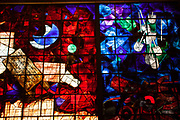 Stained glass windows (1984) by Mordecai Ardon, in the lobby of National Library of Israel, Givat Ram, Jerusalem