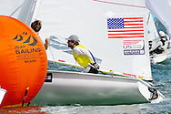 Miami, USA, February 1, 2014 -  Stuart McNay and crew David Hughes of Miami won bronze in the Men's 470 class at the ISAF Sailing World Cup Miami, a premier event on the road to the 2016 Olympics.