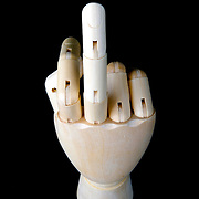 A wooden artists modelling hand