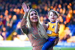 Carolyn Radford, CEO of Mansfield Town with one of her sons - Mandatory by-line: Ryan Crockett/JMP - 17/11/2018 - FOOTBALL - One Call Stadium - Mansfield, England - Mansfield Town v Port Vale - Sky Bet League Two