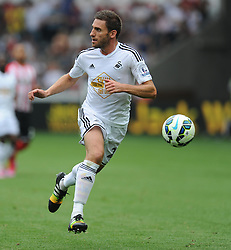 Swansea City's Angel Rangel in action. - Photo mandatory by-line: Alex James/JMP - Mobile: 07966 386802 20/09/2014 - SPORT - FOOTBALL - Swansea - Liberty Stadium - Swansea City v Southampton  - Barclays Premier League