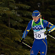 Winter Olympics, Vancouver, 2010. Helena Jonsson, Sweden, in action during the Women's 7.5 KM Sprint Biathlon at The Whistler Olympic Park, Whistler, during the Vancouver  Winter Olympics. 13th February 2010. Photo Tim Clayton