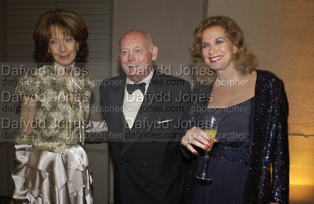 Lady Montagu, Lord Montagu and Valerie Leon, Opening of Hungary's Heritage-Princely Treasures from the Esterhaxy Collection. The Gilbert collection. Somerset House. 25 October 2004. ONE TIME USE ONLY - DO NOT ARCHIVE  © Copyright Photograph by Dafydd Jones 66 Stockwell Park Rd. London SW9 0DA Tel 020 7733 0108 www.dafjones.com