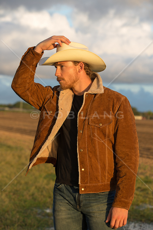 rugged cowboy outdoors