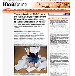 Mail Online; Woman assembling IKEA furniture