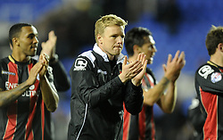 Bournemouth Manager, Eddie Howe claps the traveling fans at full time. - Photo mandatory by-line: Alex James/JMP - Mobile: 07966 386802 - 14/04/2015 - SPORT - Football - Reading - Madejski Stadium - Reading v AFC Bournemouth - Sky Bet Championship