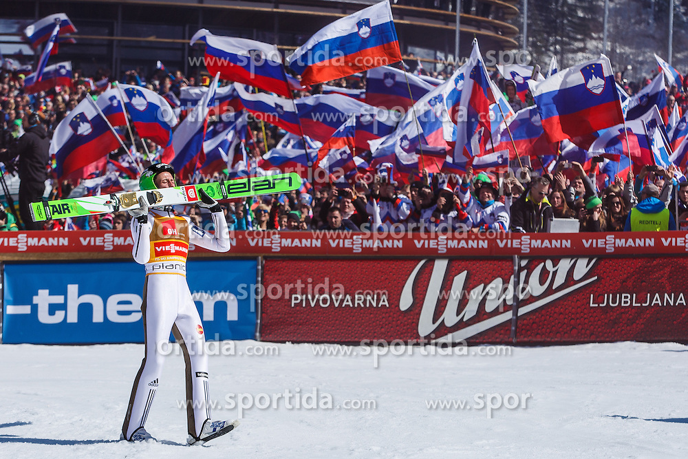 Peter Prevc (SLO) after last jump at the Ski Flying Hill Individual Competition at Day 4 of FIS Ski Jumping World Cup Final 2016, on March 20, 2016 in Planica, Slovenia. Photo by Grega Valancic / Sportida