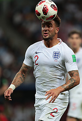 July 11, 2018 - Moscow, U.S. - MOSCOW, RUSSIA - JULY 11: Defender Kyle Walker of England National team during the semifinal match between Croatia and England at the FIFA World Cup on July 11, 2018 at the Luzhniki Stadium  in Moscow, Russia. (Photo by Anatoliy Medved/Icon Sportswire) (Credit Image: © Anatoliy Medved/Icon SMI via ZUMA Press)