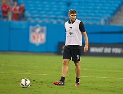 CHARLOTTE, USA - Friday, August 1, 2014: Liverpool's captain Steven Gerrard during a training session at the Bank of America Stadium on day twelve of the club's USA Tour. (Pic by David Rawcliffe/Propaganda)