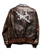 A-2 jacket that belonged to Captain Neal Workman, a B-24 pilot.
