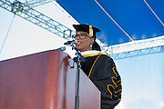 """The Spring class of 2016 was treated to the inspirational words of Oprah Winfrey. """"JCSU, your future is so bright, it burns my eyes!"""" were some of the inspiring words from the media mogul. Ms. Winfrey was in Charlotte to celebrate the graduation of Noluthando """"Thando"""" Dlomo and Nompumelelo """"Mpumi"""" Nobiva. Both young ladies were graduates of the Oprah Winfrey Leadership Academy for Girls in South Africa."""