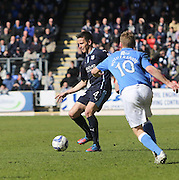 Dundee's Thomas Konrad and St Johnstone's David Wotherspoon - St Johnstone v Dundee, SPFL Premiership at McDiarmid Park<br /> <br />  - &copy; David Young - www.davidyoungphoto.co.uk - email: davidyoungphoto@gmail.com