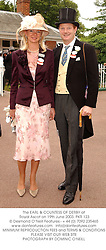 The EARL & COUNTESS OF DERBY at Royal Ascot on 19th June 2003.PKR 123