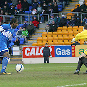 St Johnstone's Jason Scotland in action in the Scottish First Division match against Airdrie Utd played at Mc Diarmid Park 20th January 2007.