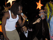Wyclef Jean,Bono of U2 & George Plimpton<br />