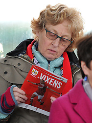 Supporter at Stoke Gifford Stadium - Mandatory by-line: Paul Knight/JMP - 30/09/2017 - FOOTBALL - Stoke Gifford Stadium - Bristol, England - Bristol City Women v Yeovil Town Ladies - FA Women's Super League 1