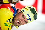 &Ouml;STERSUND, SVERIGE - 2017-12-02: Fredrik Lindstr&ouml;m under herrarnas sprint t&auml;vling under IBU World Cup Skidskytte p&aring; &Ouml;stersunds Skidstadion den 2 december 2017 i &Ouml;stersund, Sverige.<br /> Foto: Johan Axelsson/Ombrello<br /> ***BETALBILD***