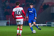 AFC Wimbledon defender Ryan Delaney (21) during the The FA Cup match between Doncaster Rovers and AFC Wimbledon at the Keepmoat Stadium, Doncaster, England on 19 November 2019.