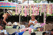 Lei seller, Kailua Kona, Island of Hawaii