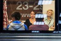 BUCHAREST, ROMANIA - October 1, 2012: People in subway system in Bucharest