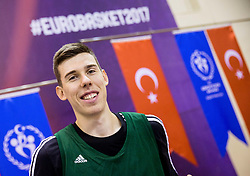 Vlatko Cancar of Slovenia during practice session of Slovenian National team 1 day prior to the basketball match between National Teams of Slovenia and Ukraine in Round of 16 of the FIBA EuroBasket 2017, at Ahmet Cömert Sports Hall in Istanbul, Turkey on September 8, 2017. Photo by Vid Ponikvar / Sportida