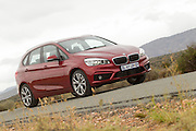 BMW South Africa launches the new 2 series active tourer to the media. Journalists experienced the vehicles in and around George in the Western Cape, South Africa. Image by Greg Beadle